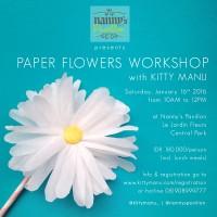 Registration : DIY Paper Flower Workshop