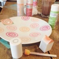 Workshop Kittykitz : Stencil on Tote Bag & Plate