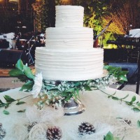 Natural Wedding Dessert Table Decorations