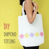DIY: Diamond Totebag