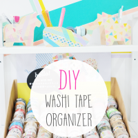 DIY: Washi Tape Organizer