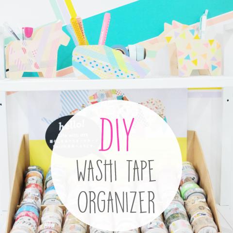 DIY: Washi Tape Organizer