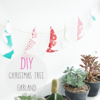 DIY  : Christmas Tree Garland
